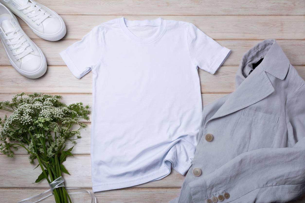 t-shirt bio en lin ou en coton